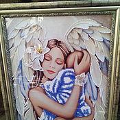 Картины и панно ручной работы. Ярмарка Мастеров - ручная работа ангел и дитя. Handmade.