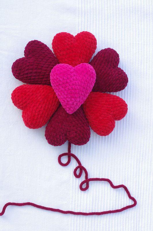 Миниатюра ручной работы. Ярмарка Мастеров - ручная работа. Купить Набор Плюшевые сердечки. Handmade. Разноцветный, Вязание крючком