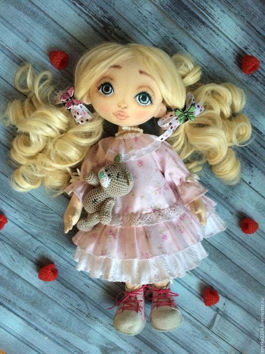 Коллекционные куклы ручной работы. Ярмарка Мастеров - ручная работа. Купить Текстильная кукла. Handmade. Бледно-розовый, интерьерная кукла