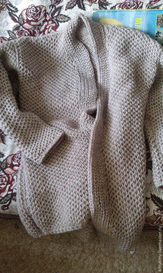 Кофты и свитера ручной работы. Ярмарка Мастеров - ручная работа. Купить Вязаный кардиган. Handmade. Серый, вязаный кардиган