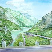 Картины и панно ручной работы. Ярмарка Мастеров - ручная работа Швейцария. Горная дорога.. Handmade.