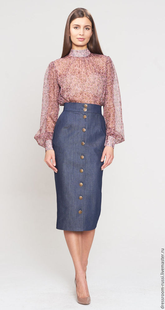 Юбки ручной работы. Ярмарка Мастеров - ручная работа. Купить Джинсовая юбка. Handmade. Синий, юбка на праздник