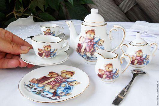 Винтажные куклы и игрушки. Ярмарка Мастеров - ручная работа. Купить Кукольный сервиз 1998г немецкий фарфор. Handmade. Кремовый