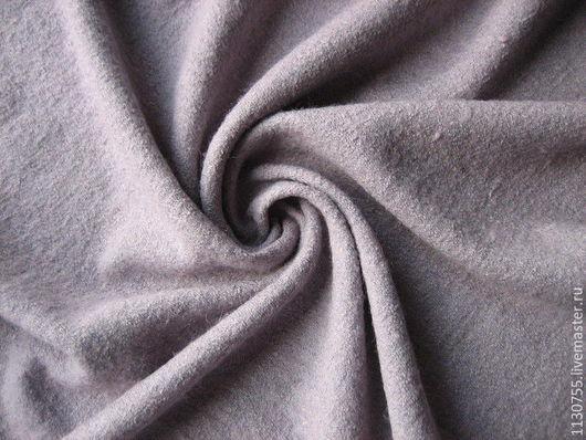 Шитье ручной работы. Ярмарка Мастеров - ручная работа. Купить ткань лоден(вареная шерсть ) Италия светло- сиреневый. Handmade.