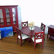 Набор мебели для гостиной 7 предметов Миниатюра 1:12