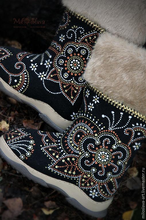 boots: ' Dawn-Zarenitsa', Felt boots, Moscow,  Фото №1