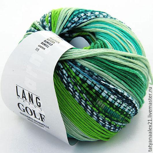 Вязание ручной работы. Ярмарка Мастеров - ручная работа. Купить Пряжа Lang Yarns Golf Color  № 0317. Handmade.
