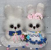 Куклы и игрушки ручной работы. Ярмарка Мастеров - ручная работа Снежинки)))Зайцы вязаные))). Handmade.