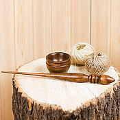 Материалы для творчества handmade. Livemaster - original item Spindle for spinning Pine (with base) Wooden shank #B13. Handmade.