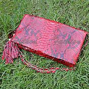 Сумки и аксессуары handmade. Livemaster - original item Evening clutch made of Python LUCCIA. Handmade.