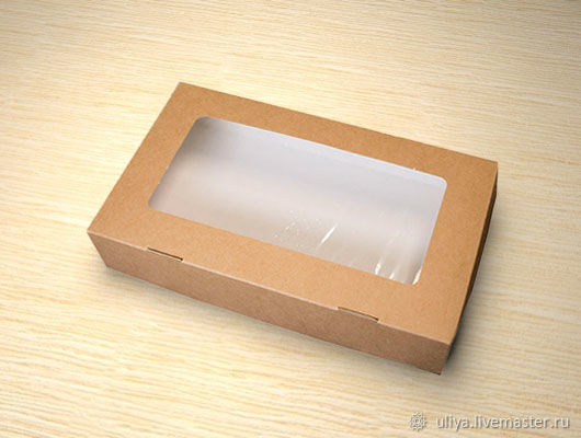 Коробка крафт с окном, Коробки, Москва,  Фото №1