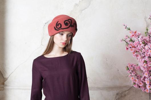 Шляпы ручной работы. Ярмарка Мастеров - ручная работа. Купить Назад в элегантное будущее. Handmade. Велюровая шляпа, стильная шляпа