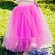 """Юбки ручной работы. Ярмарка Мастеров - ручная работа. Купить Фатиновая юбка """"Розовое очарование"""". Handmade. Розовый, юбка из фатина"""
