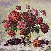 Картины и панно ручной работы. Ярмарка Мастеров - ручная работа Красные розы. Handmade.