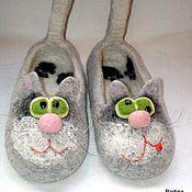 Обувь ручной работы. Ярмарка Мастеров - ручная работа Кототапки (тапки Коты). Handmade.
