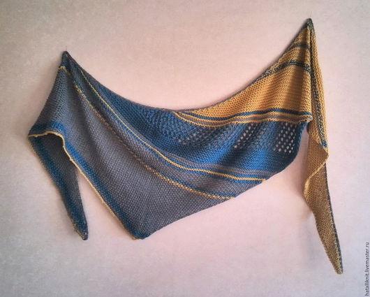 Шали, палантины ручной работы. Ярмарка Мастеров - ручная работа. Купить Ассиметричная шаль. Handmade. Комбинированный, ручная вязка, ассиметрия