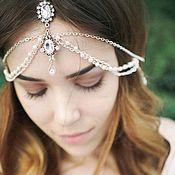 Свадебный салон ручной работы. Ярмарка Мастеров - ручная работа Тика свадебная в прическу невесте, тика на голову. Handmade.
