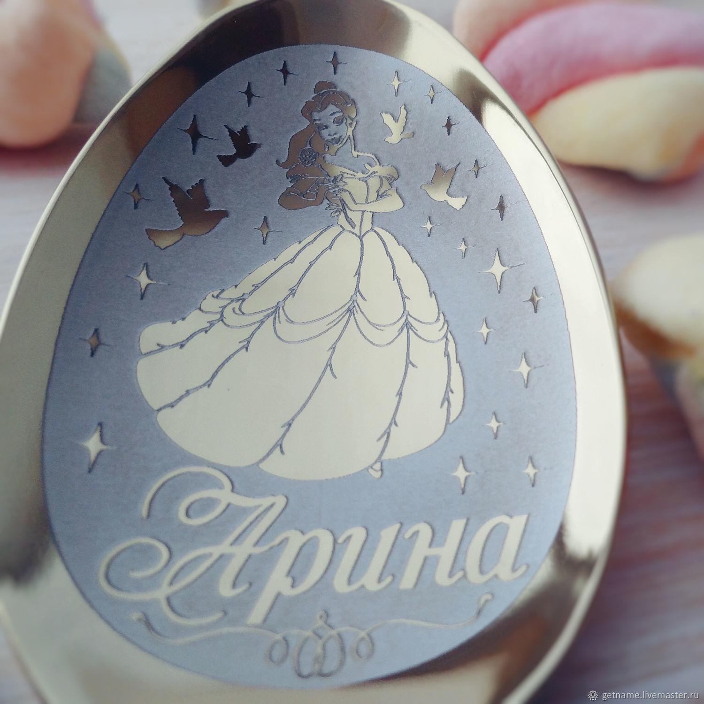 Ложки ручной работы. Ярмарка Мастеров - ручная работа. Купить Именная десертная ложечка 'Арина'. Handmade. Розовый, подарок маме