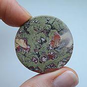 Материалы для творчества handmade. Livemaster - original item Indonesian moss agate. Cabochon 33h33h6. Handmade.