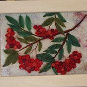"""Картины и панно ручной работы. Ярмарка Мастеров - ручная работа """"Сладкая ягода"""" из шерсти. 3-D картина. Handmade."""
