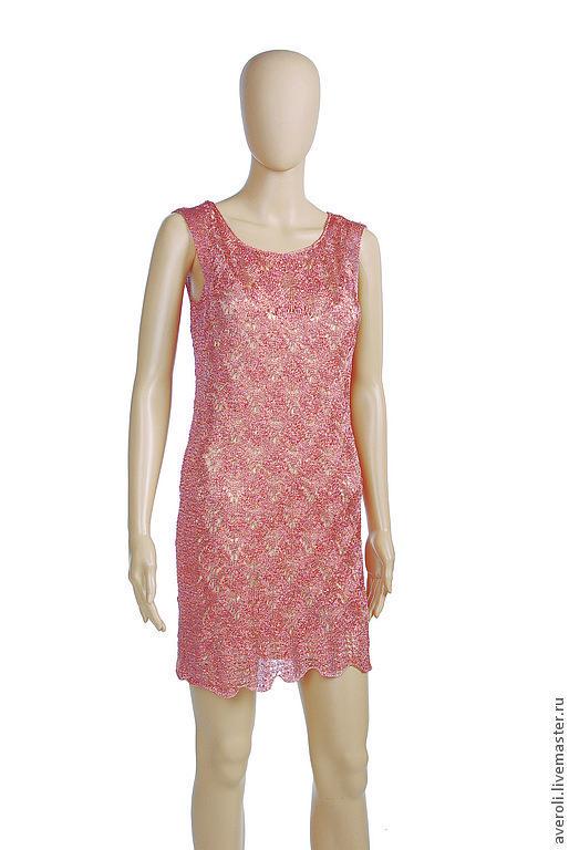 Платья ручной работы. Ярмарка Мастеров - ручная работа. Купить Платье Розовая орхидея. Handmade. Розовый, люрекс, платье вязаное