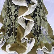"""Аксессуары ручной работы. Ярмарка Мастеров - ручная работа Палантин """"В танце вальса"""" валяный. Handmade."""