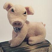 Куклы и игрушки ручной работы. Ярмарка Мастеров - ручная работа Поросёнок Ромка. Handmade.