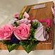"""Букеты ручной работы. Заказать Классный журнал из конфет """"Розы"""". МишУля-sweet сладкие подарки. Ярмарка Мастеров. Женщине, стразы"""