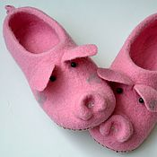 """Обувь ручной работы. Ярмарка Мастеров - ручная работа тапочки """"хавроньюшка"""" .. Handmade."""