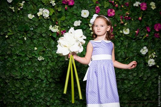 """Одежда для девочек, ручной работы. Ярмарка Мастеров - ручная работа. Купить Детское платье """"AMORE""""(с каймой). Handmade. Платье для девочки"""