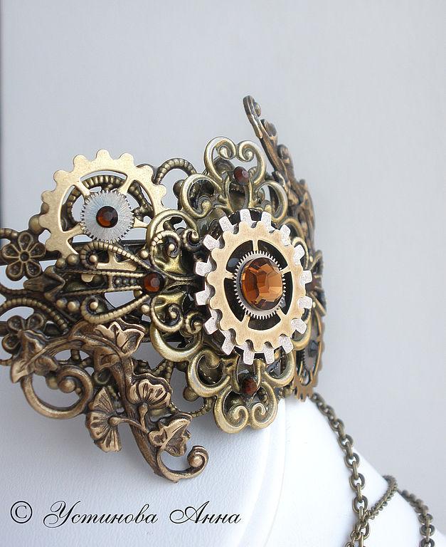 Стимпанк ручной работы. Ярмарка Мастеров - ручная работа. Купить Стимпанк браслет,стимпанк кольцо, браслет в стиле стимпанк/ Steampunk. Handmade.