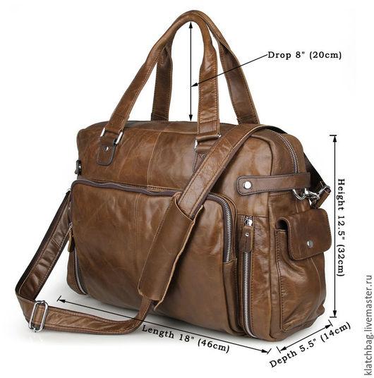 Мужские сумки ручной работы. Ярмарка Мастеров - ручная работа. Купить Коричневая мужская сумка из натуральной кожи (А-3). Handmade.