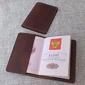 Сумки и аксессуары handmade. Livemaster - original item Cover for a passport. Leather cover passport.. Handmade.