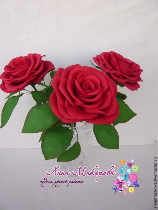 Букет из роз ручной работы из фоамирана