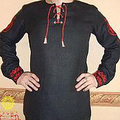 Народные рубахи ручной работы. Ярмарка Мастеров - ручная работа Рубаха льняная Звезда Руси. Handmade.