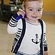 """Одежда для мальчиков, ручной работы. Ярмарка Мастеров - ручная работа. Купить Комплект для мальчика """"Озорной юнга"""". Handmade. Разноцветный, якоря"""