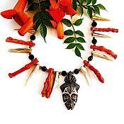 Necklace handmade. Livemaster - original item Necklace with corals