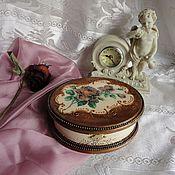 Для дома и интерьера ручной работы. Ярмарка Мастеров - ручная работа шкатулка для украшений Роза , декупаж. Handmade.