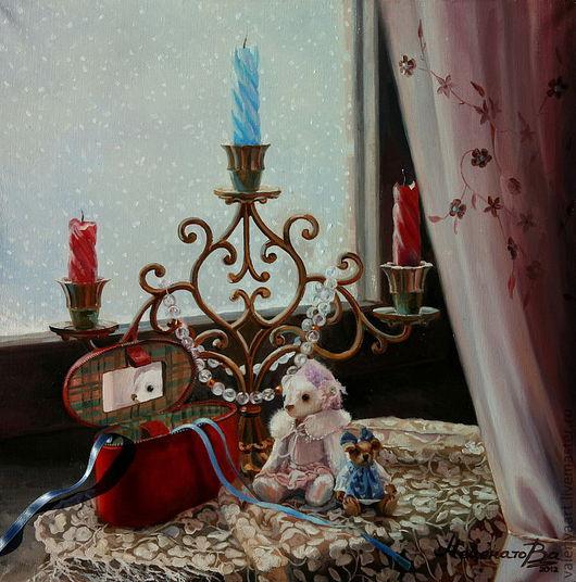 Натюрморт ручной работы. Ярмарка Мастеров - ручная работа. Купить В ожидании Нового Года!  Картина маслом.. Handmade.