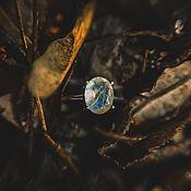 """Украшения ручной работы. Ярмарка Мастеров - ручная работа Серебряное кольцо с лунным камнем """"Море Спокойствия"""". Handmade."""