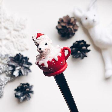 Посуда ручной работы. Ярмарка Мастеров - ручная работа Мышка на ложке из полимерной глины подарок на Новый 2020 год Год крысы. Handmade.