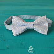 Аксессуары handmade. Livemaster - original item Tie Patterns on blue / gentle blue bow tie. Handmade.