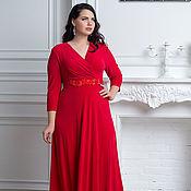 Платья ручной работы. Ярмарка Мастеров - ручная работа Вечернее платье макси большого размера. Handmade.