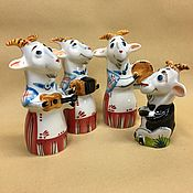 Fun handmade. Livemaster - original item Goat Orchestra. Handmade.