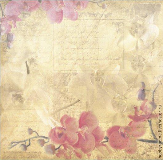 """Бумага для скрапбукинга """"акварельные цветы"""" """" орхидеи ... Винтажная Бумага для Скрапбукинга"""