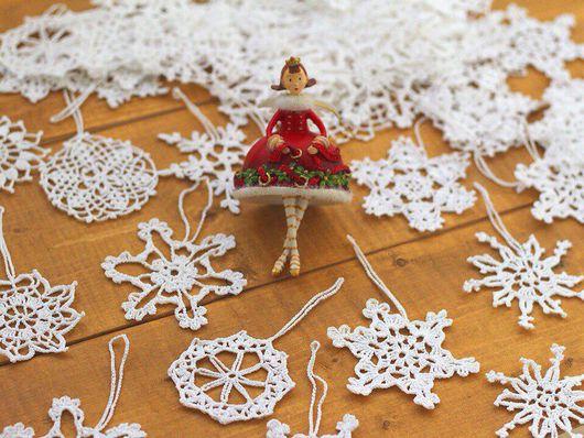 Новый год 2017 ручной работы. Ярмарка Мастеров - ручная работа. Купить Снежинки. Handmade. Новый Год, снежинка на елку