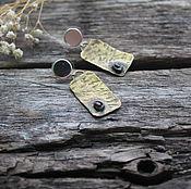 Серьги классические ручной работы. Ярмарка Мастеров - ручная работа Серьги латунные с гранатом - латунь, гранат. Handmade.