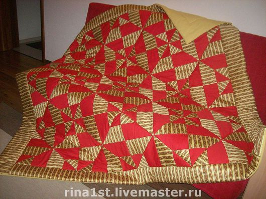 """Текстиль, ковры ручной работы. Ярмарка Мастеров - ручная работа. Купить лоскутное одеяло """"Индийский вечер"""". Handmade. Лоскутное одеяло"""