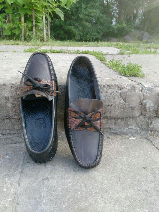 Обувь ручной работы. Ярмарка Мастеров - ручная работа. Купить Мокасини. Handmade. Мужские мокасини