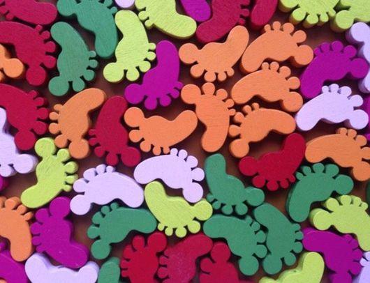 Для украшений ручной работы. Ярмарка Мастеров - ручная работа. Купить бусины деревянные разноцветные ножки. Handmade. Комбинированный, бусина